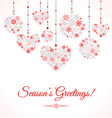 Greetings card with christmas ball made of vector image