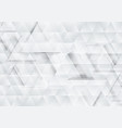grey and white tech triangles texture background vector image vector image