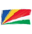 grunge seychelles flag vector image vector image