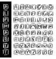 hand drawn alphabet in calligraphy brush template vector image