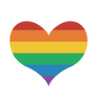 Heart Icon with rainbow flag vector image vector image