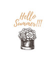 hello summer hand drawing vector image