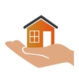 house real estate emblem vector image