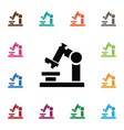 isolated zoom icon microbiology element vector image