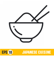 line icon bowl of rice vector image