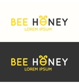 Logo of bee honey vector image vector image