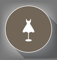 mannequin with dress sign white icon on vector image vector image