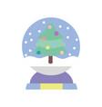 merry christmas celebration decorative tree vector image vector image