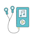 mp3 with headphones to listen and play music vector image vector image