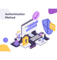 online shopping authentication method modern vector image