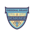 original retrobrand sticker in blue style vector image