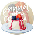 panna cotta dessert with berries icon cartoon vector image vector image