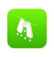 pants drying icon green vector image vector image