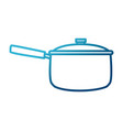 pot with lid kitchen utensil vector image vector image