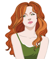 Red Head Girl vector image vector image