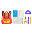 rucksack fashionable model and school accessory vector image vector image