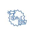 sales line icon concept sales flat symbol vector image vector image