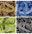 Seamles swirl pattern vector image
