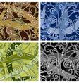 seamless swirl pattern vector image vector image