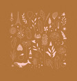 set different decorative elements mustard vector image vector image