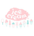 set ice cream vector image vector image