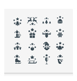 Set of 16 Christmas icons vector image