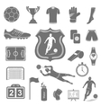 Set of icons football vector image vector image