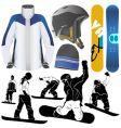 snowboard vector image vector image