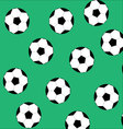 Soccer ball seamless pattern vector image vector image