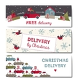 special christmas delivery vector image