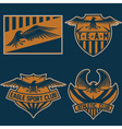 sport team crests set with eagles design template vector image