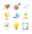 start up icon color set vector image vector image