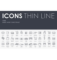 Store Thin Line Icons vector image vector image