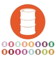 The barrel icon vector image