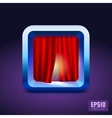 Theater curtain icon IOS style vector image