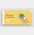 tourism and travel landing page summer traveling vector image vector image