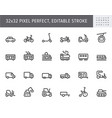 transport side view flat icons vector image