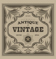 vintage frame western label retro border antique vector image vector image