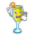 with phone mimosa character cartoon style vector image vector image