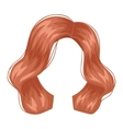 woman hairstyle silhouette vector image vector image
