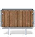 Wooden Industrial Board vector image vector image