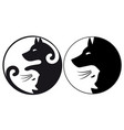 yin yang symbol cat and dog vector image vector image