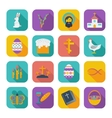Color flat Easter Icons vector image