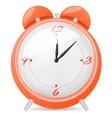 Orange alarm clock vector image
