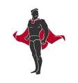 Superhero comics style vector image