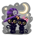 Two Black Kittens vector image