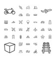 37 transport icons vector image vector image