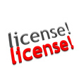 3d license text design vector image vector image