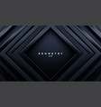 abstract black background luxury square frames vector image
