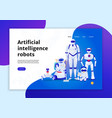 artificial intelligence robots web banner vector image